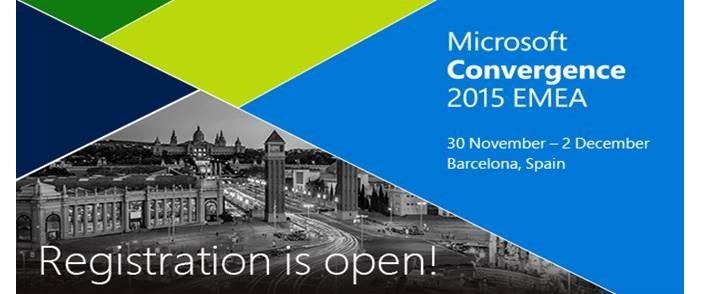 Microsoft Convergence EMEA 2015