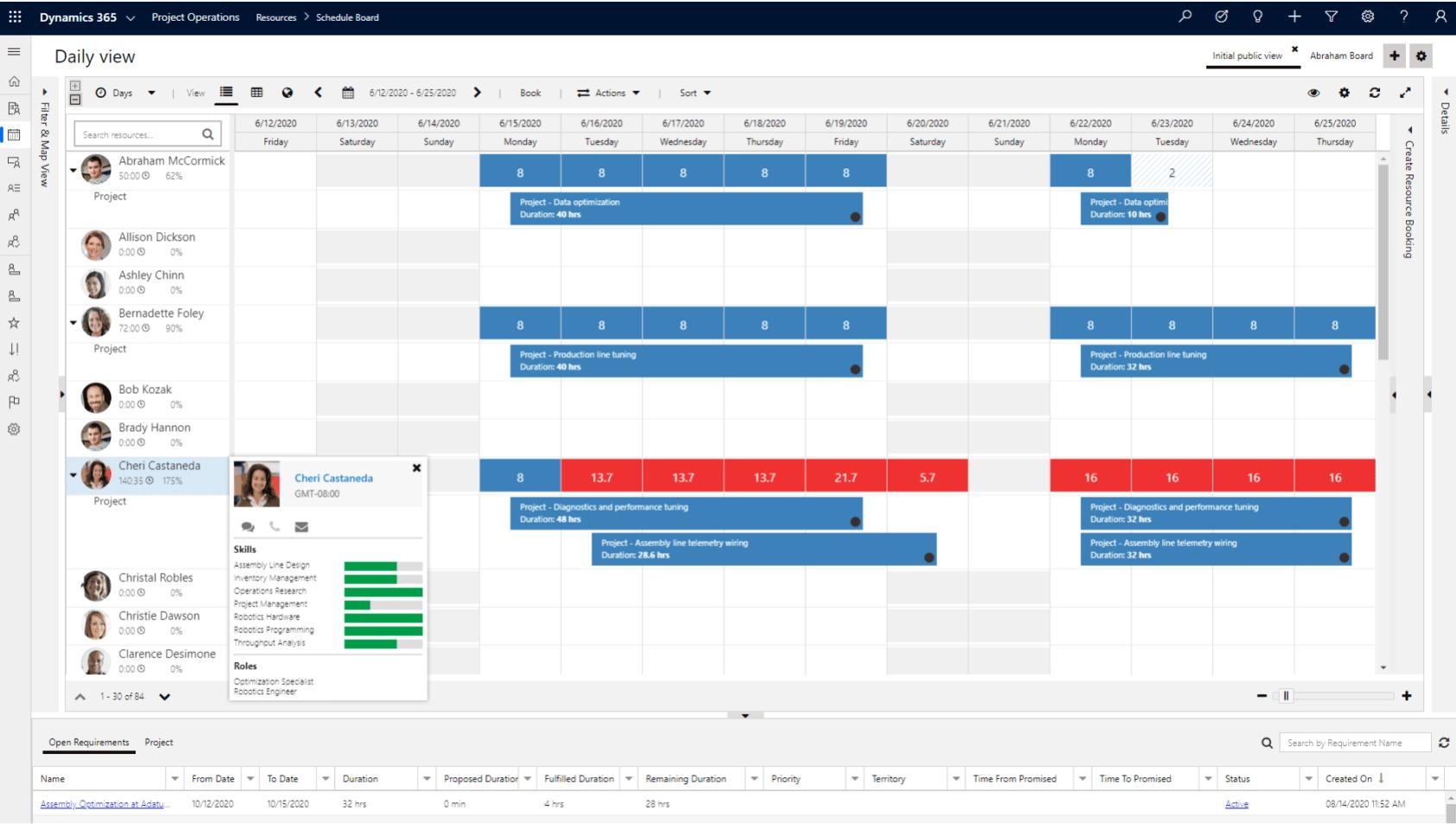 dynamics 365 timetable