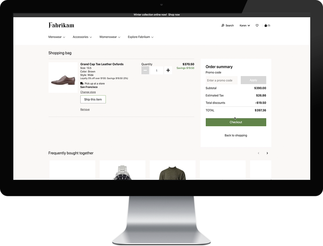 dynamics 365 commerce purchases