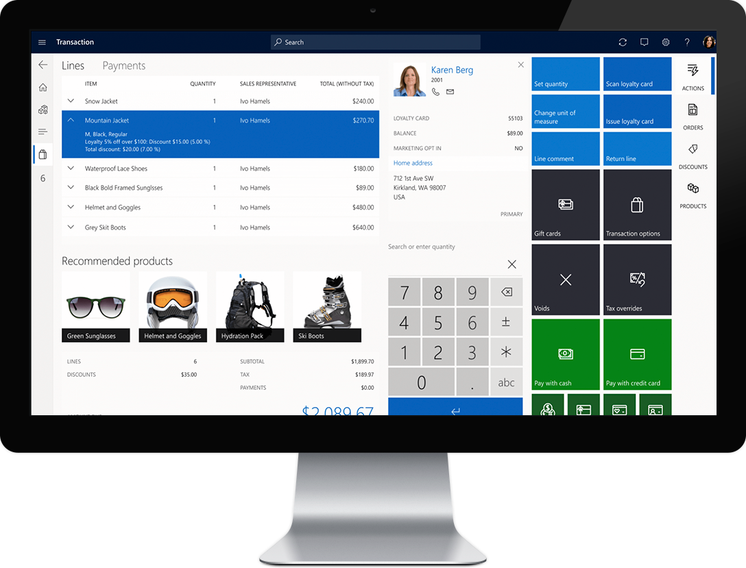 dynamics 365 commerce transaction