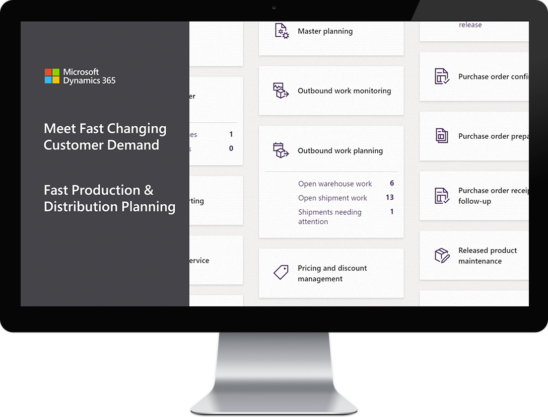 dynamics 365 fast changing customer demand fast production