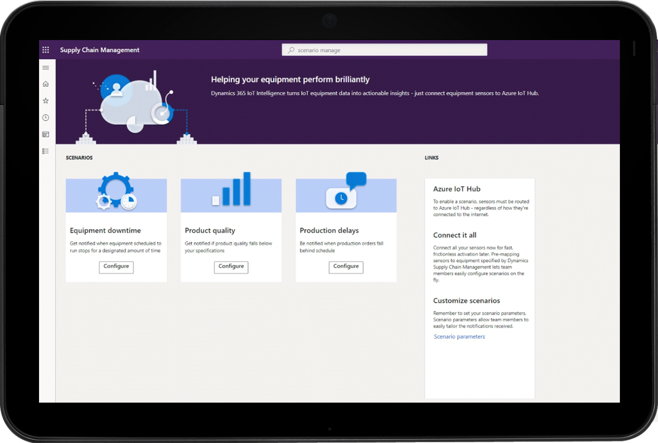 dynamics 365 supply chain management equipment perform brilliantly