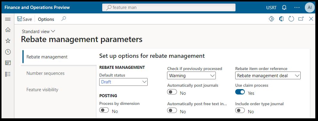 2-03 Rebate management module parameters