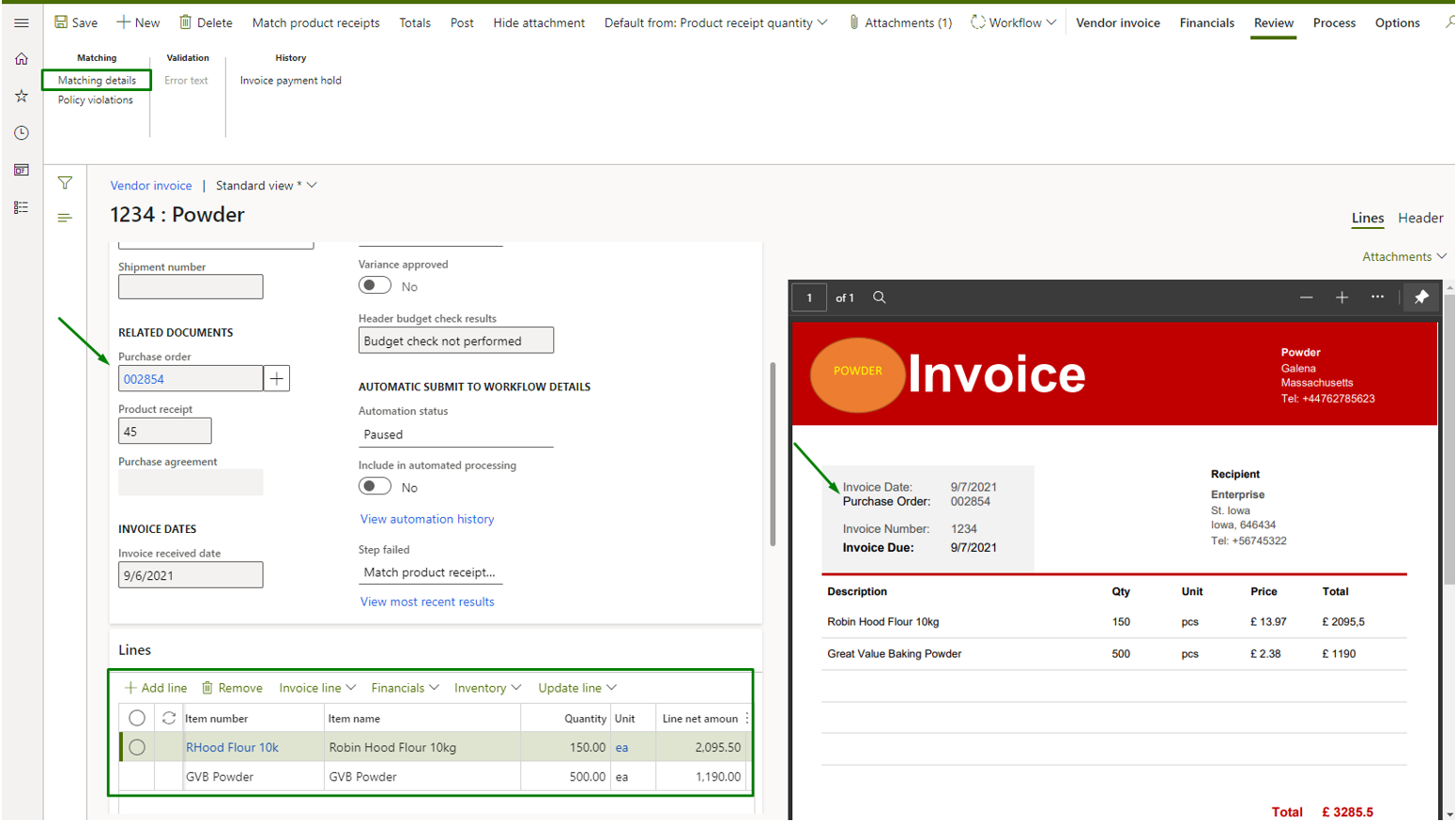 Vendor_invoice_automation_Pic. 4 – Vendor invoice side by side view (revision)